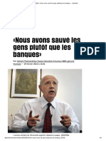 (20+) «Nous avons sauvé les gens plutôt que les banques» - Libération