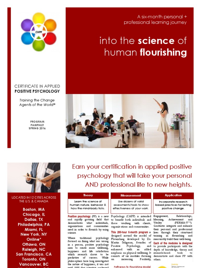 Capp Final Pamphlet 10 Pages Xs Positive Psychology Mindfulness