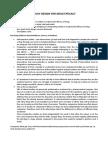 Study Design for Drug Efficacy