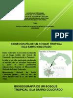 Biogeografia de La Un Bosque Tropical Isla Barro Colorado