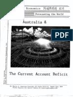 Australia & The Current Account Deficit 8-23-2010