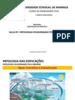 Aula 07 - Patologias Ocasionadas Pela Umidade