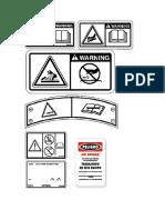 Etiquetas de Advertencia Tractor Oruga