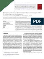 Article HPLC Griséofulvine - Impuretés