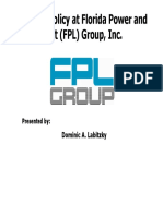 Dividend Policy at Florida Power and Light FPL