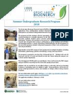GLBRC Summer Undergrad Research Program 2018