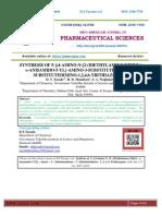 SYNTHESIS OF 5-{(4-AMINO-N-[2-(DIETHYLAMINO)ETHYL]- o-ANISAMIDO-5-YL}-AMINO-3-SUBSTITUTEDIMINO-7- SUBSTITUTEDIMINO-1,2,4,6-TRITHIAZEPINES
