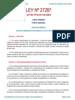 Ley 27287 Ley de Títulos Valores SMV