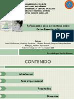 Reformación seca del metano sobre Cerio-Zirconia soportado en NI. presentacion.pdf