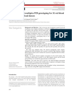 High-throughput Multiplex PCR Genotyping for 35 Red Blood Jungbauer 2012