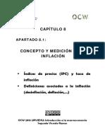 8.1 Concepto y Medicion de La Inflacion