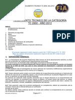 Reglamento Tecnico Tc2000 2012 Mayorana
