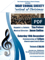 Christmas Concert Background A5