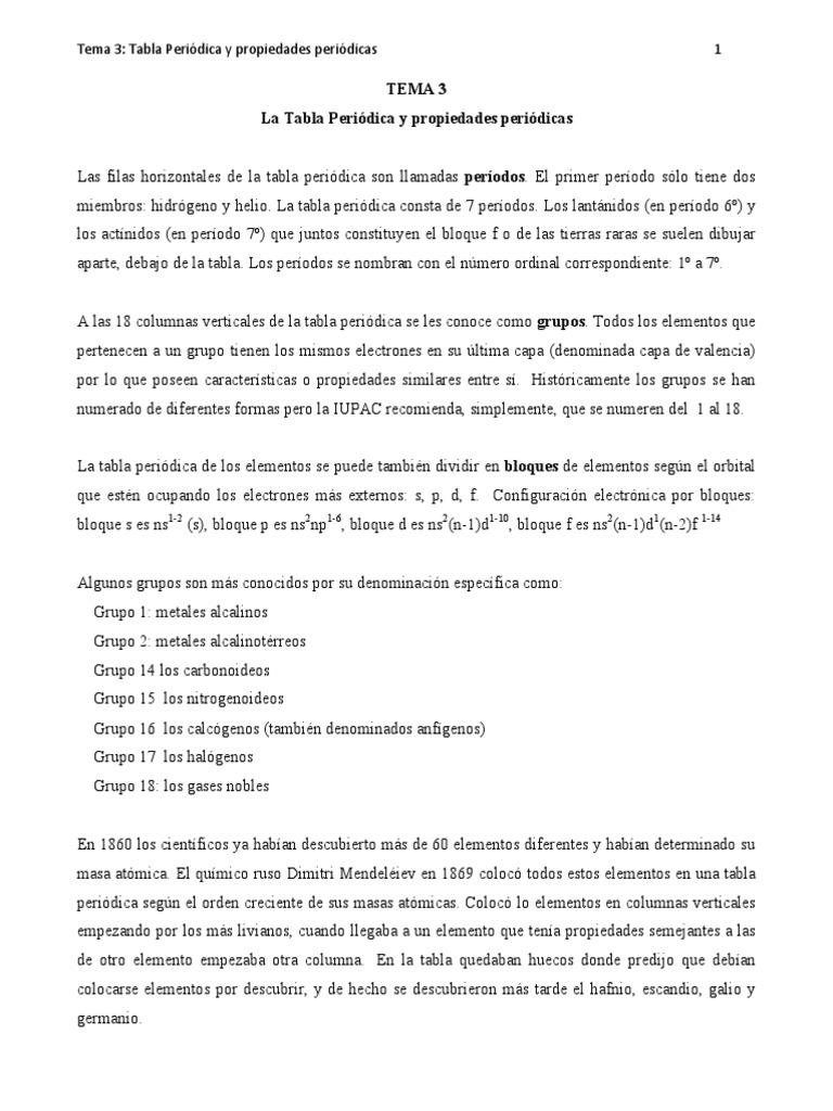 Tabla peridica y propiedadespdf urtaz Image collections