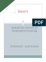 Cours de Marché Des Capitaux Et Instruments Financiers