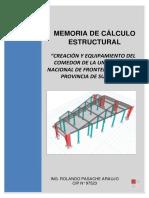 Memoria de Calculo de Estructuras -Comedor-unfs