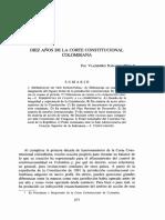 Diez Años de La Corte Constitucional Colombiana