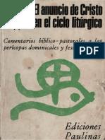 Lapple, Alfred - El Anuncio de Cristo en El Año Liturgico (C)