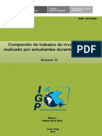 I.G.P. Compendio de trabajos de investigación  realizado por estudiantes durante el año 2011-  V.13