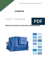 WEG Turbogeneradores Horizontales 10656299 Manual Espanol