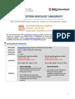 2017 OAS WKU ScholarshipAnnouncement 1