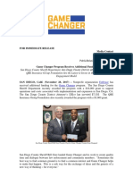 Game Changer Program Receives Additional Funding