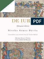 Nicolás Gómez Dávila - De Iure (Bilingual Edition)