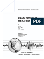 Dynamic Properties of Pine Flat Dam - Chopra - 1970