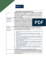 Instrucciones Foro 2 FORMULACIÓN Y EVALUACIÓN DE PROYECTOS