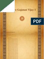 Gajanan Vijay Grantha-English