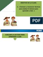 Clase 5 Evaluación de La Lectura