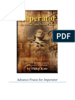 "Advance Praise for ""Imperator"" by Philip Katz"