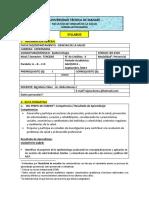 Sylabus Epidemiologia Lic. Nidia Macias 2013