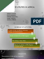 POWER Utilities Summary