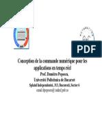 Conception de La Commande Numerique Pour Les Applications en Temps Reel