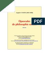 Comte-opuscules Philo Sociale