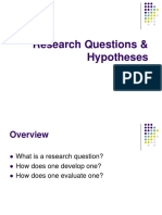 Research Questions & Hypotheses Overview