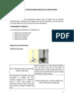 Material y Operaciones Basicas de Laboratorio