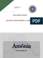 Amoníacos e Água Sanitária'