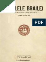 Analele Brailei, An 01, Nr. 04, 05, 06, Iulie-Decembrie 1929