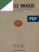 Analele Brailei, An 03, Nr. 01, Ianuarie-martie 1931