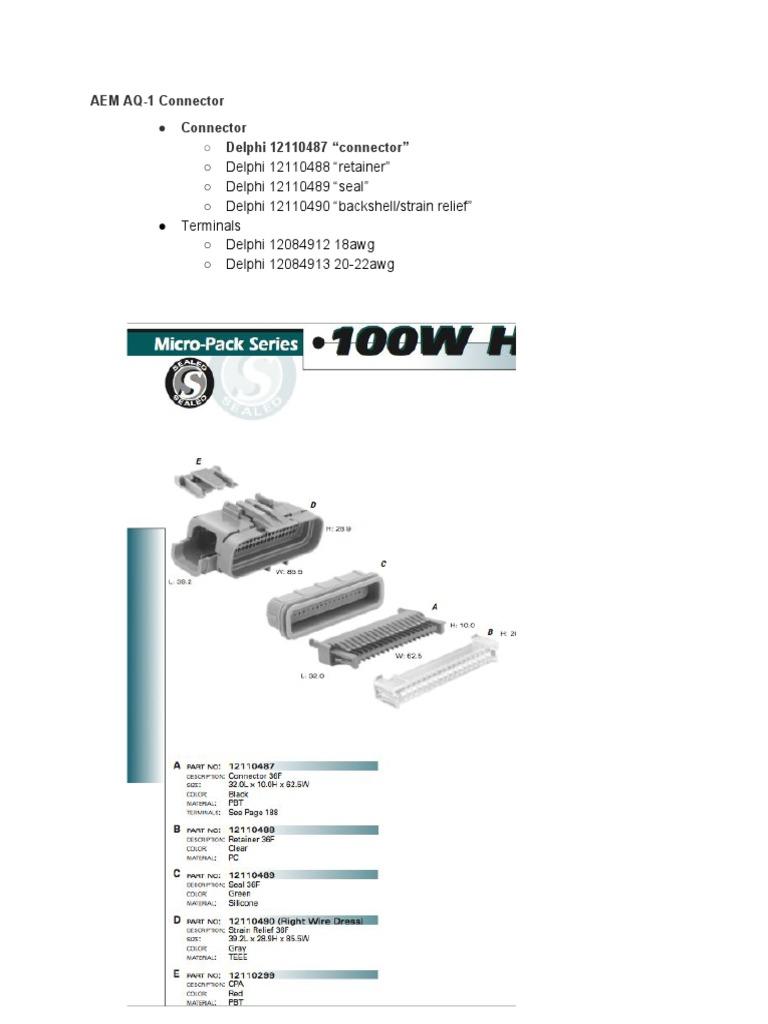 AEM AQ-1 Connector