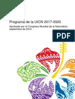 Programa de La UICN 2017-2020