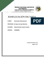 Renegociación Del NAFTA