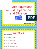 day 2 1step equations xdivision