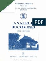 08-1. Analele Bucovinei, An VIII, Nr. 1 (2001)