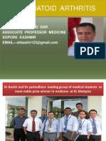 Rheumatoid Arthritis by Dr Bashir Ahmed Dar Associate Professor Medicine