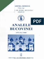 09-1. Analele Bucovinei, An IX, Nr. 1 (2002)