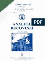 10-1. Analele Bucovinei, An X, Nr. 1 (2003)