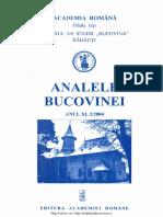 11-2. Analele Bucovinei, An XI, Nr. 2 (2004)
